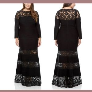 NEW Tadashi Shoji Corded Embroidery Pintuck Gown